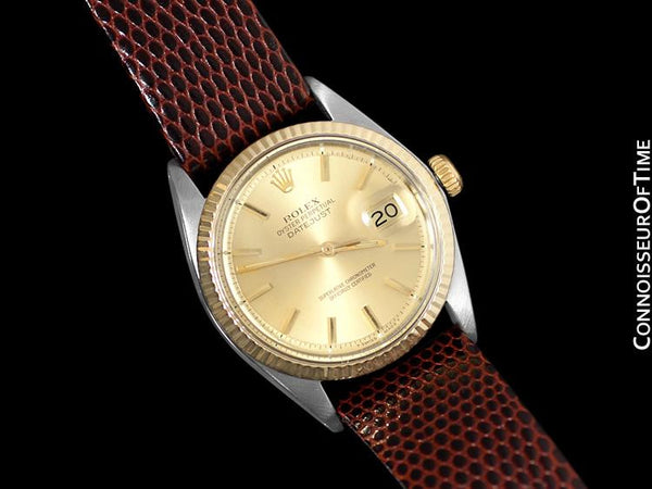 1972 Rolex Vintage Mens 2-Tone Datejust Ref. 1601, Pie Pan Dial - Stainless Steel & 18K Gold
