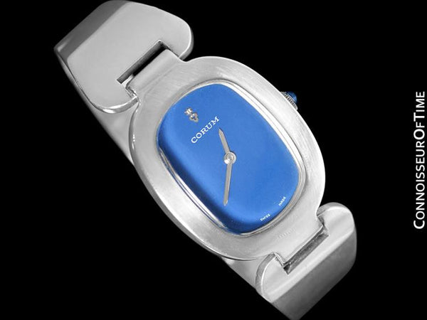 "Corum ""Love Bond"" Ladies Vintage Bangle Bracelet Watch - Sterling Silver"