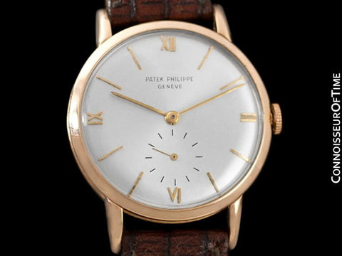 c. 1950's Patek Philippe Vintage Mens Midsize Handwound Watch, Ref. 1471 - 18K Rose Gold