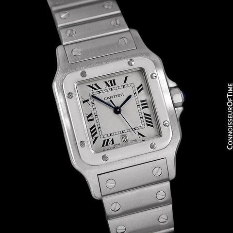 Cartier Santos Galbee Mens Watch with Quick-Setting Date - Stainless Steel