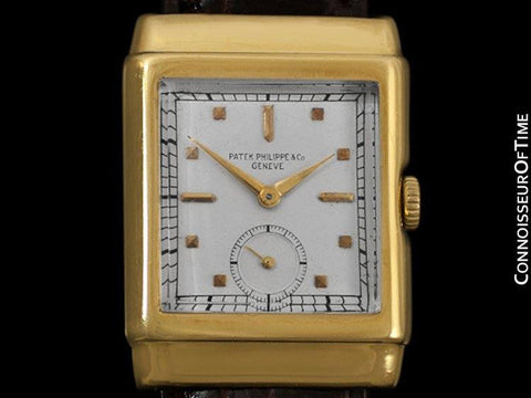 1938 Patek Philippe Vintage Mens Hooded Lug Ref. 550 Watch - 18K Gold