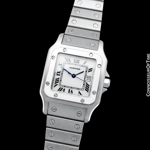 Cartier Santos Galbee Automatique Mens Bracelet Watch - Stainless Steel