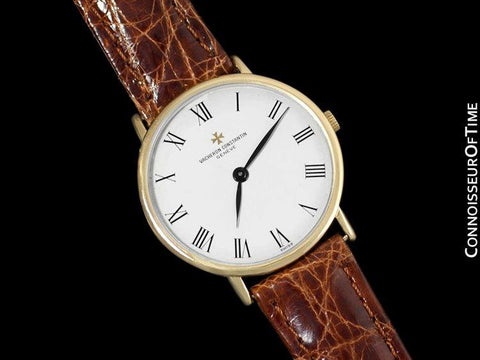 Vacheron & Constantin Patrimony Style Mens Ultra Thin Watch - 18K Gold