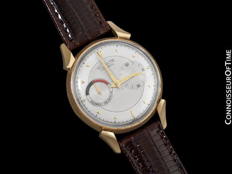 1953 LeCoultre Futurematic Vintage Mens Silver Dial Watch, Bullhorn Lugs - 10K Gold Filled