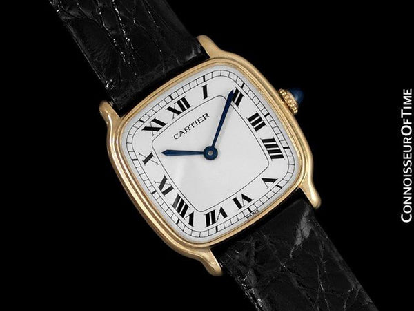 Cartier Vintage Mens Midsize Mechanical Watch - Solid 18K Gold