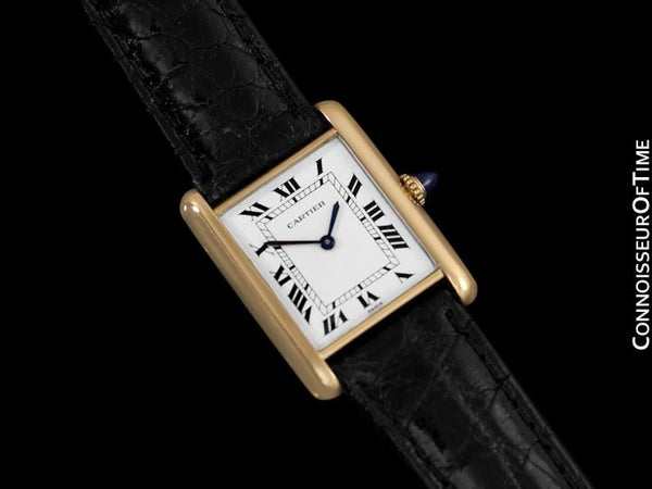 Cartier Tank Louis Mens (Midsize) Mechancial Watch - Solid 18K Gold