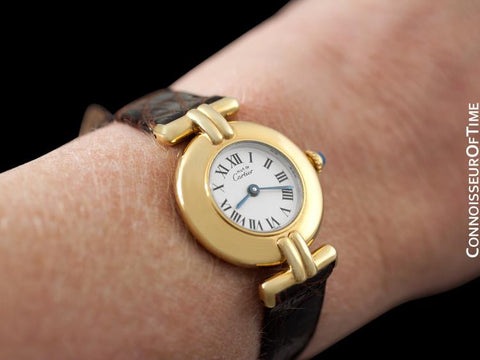 Cartier Colisee Ladies Vendome Vermeil Watch - 18K Gold over Sterling Silver