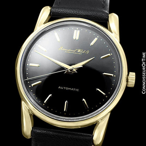 1951 IWC Vintage Mens Full Size Watch, Cal. 85 Automatic, 18K Gold - Bombe (Bombay) Lugs