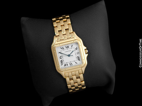 "Cartier Panthere ""Large"" Mens Midsize / Unisex Watch, Date, 106000M, W25054P5 - 18K Gold"