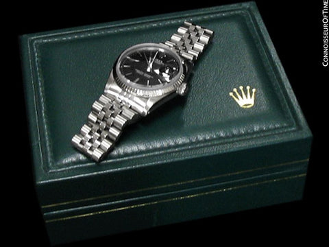 Rolex Mens Datejust, Ref. 1603 with Pie Pan Dial - Stainless Steel & 18K White Gold