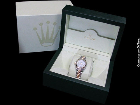 Rolex Ladies Oyster Perpetual Datejust, New Style, Stainless Steel & 18K Gold & Factory Diamonds - 179173