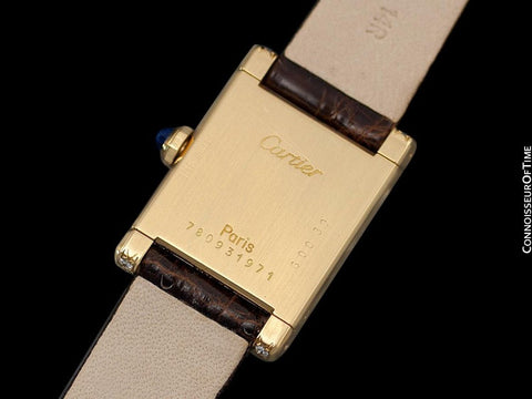 Cartier Tank Ladies Mechancial Watch, Like Francaise - 18K Gold & Diamonds