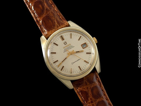 1969 Omega Seamaster Chronometer Large Vintage Mens Cal. 564 Watch - 14K Gold Filled & Stainless Steel