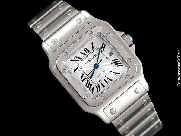 Cartier Santos Automatique Mens Bracelet Watch, Stainless Steel - W20055D6