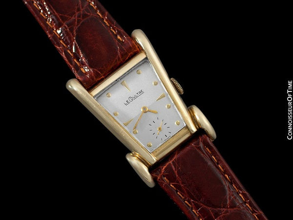 1949 Jaeger-LeCoultre Vintage Mens Watch, Rare Case, 10K Gold Filled, Grasshopper - The Aristocrat