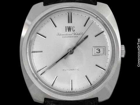 1974 IWC Vintage Full Size Mens Watch, Cal. 8541 Automatic with Date, Stainless Steel