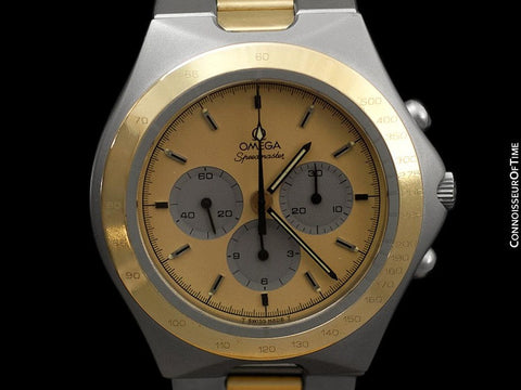 1980 Omega Speedmaster Teutonic Vintage Mens Chronograph, 145.0040 - Stainless Steel & 18K Gold