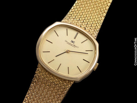 1974 IWC Vintage Mens Dress Watch with Bracelet, 18K Gold & Stainless Steel - Like New Old Stock