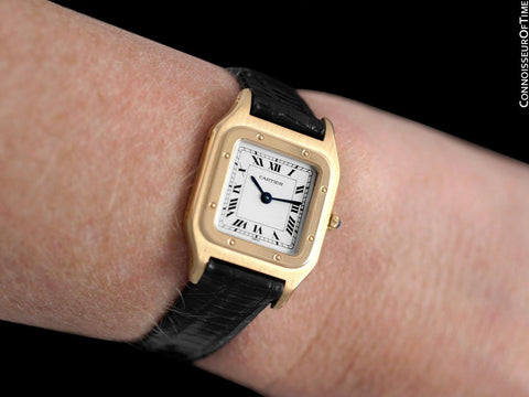 Cartier Santos Dumont Vintage Ladies Ultra Thin Watch - 18K Gold