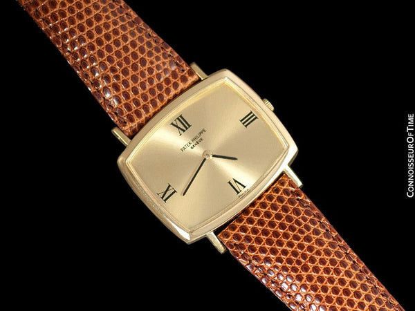 1970 Patek Philippe Classic Vintage Mens Ultra Thin Retro TV Watch - 18K Gold