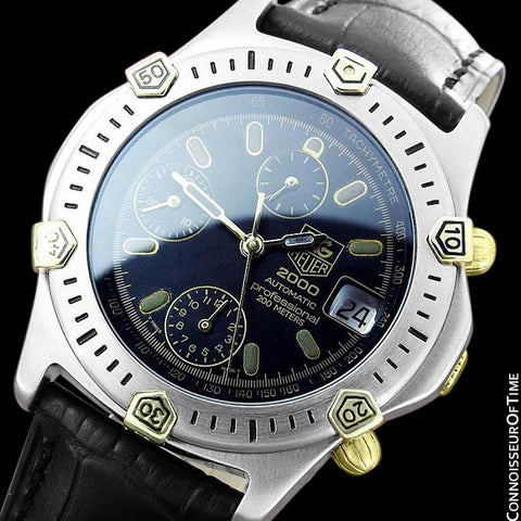 TAG Heuer 2000 Automatic Mens Chronograph Divers Watch, 165.306 - Stainless Steel