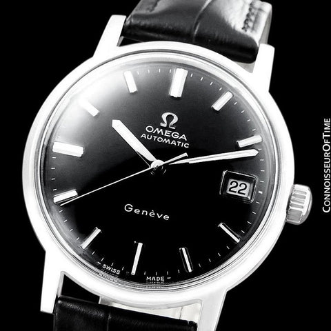 1970 Omega Geneve Vintage Mens Cal. 565 Automatic Watch with Quick-Setting Date - Stainless Steel