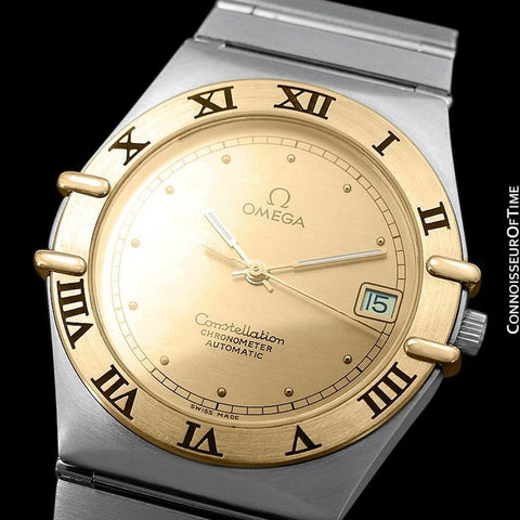Omega Constellation Manhattan Mens Large Chronometer Watch, Automatic, Date - Stainless Steel & 18K Gold