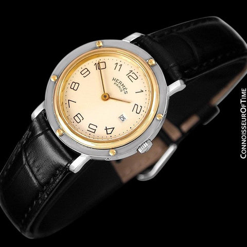 Hermes Misize Unisex Clipper 2-Tone Quartz Watch - Stainless Steel & 18K Gold Plated