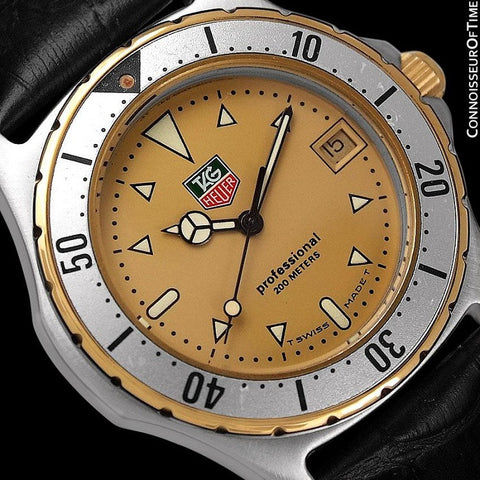 TAG Heuer Professional 2000 Mens Diver Watch, 974.006F - Stainless Steel & 18K Gold Plated