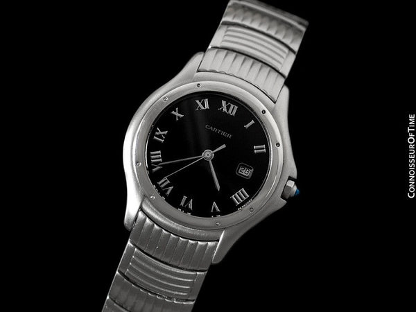 Cartier Cougar (Panthere) Midsize Unisex Quartz Watch with Date - Stainless Steel