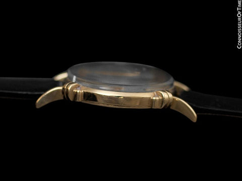 1944 Jaeger-LeCoultre Vintage Mens Midsize Watch, Beautiful Case - 14K Gold