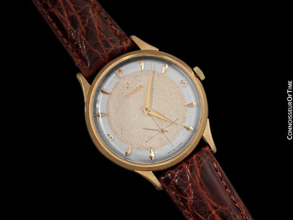 1955 Omega Vintage Mens 30T2 Based Dress Watch, Large Size - 14K Rose Gold