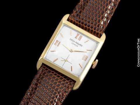 c. 1929 Patek Philippe Vintage Mens Midsize Watch - 18K Gold
