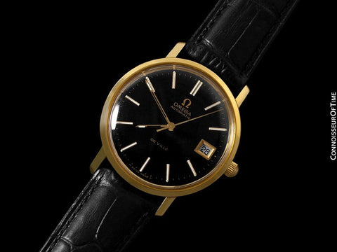 1974 Omega De Ville Vintage Mens Full Size Automatic Watch - 18K Gold Plated & Stainless Steel