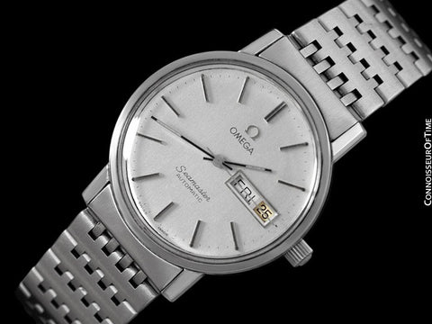 1980 Omega Seamaster Mens Watch, Automatic, Quick-Set Day & Date - Stainless Steel