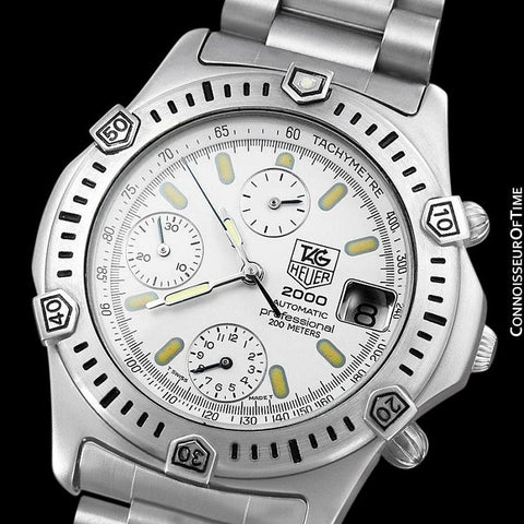 TAG Heuer 2000 Automatic Mens Chronograph Divers Watch, 169.806 - Stainless Steel