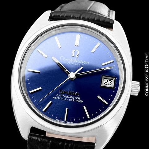 "1972 Omega Constellation ""C"" Chronometer Vintage Mens Calendar Date Watch - Stainless Steel"