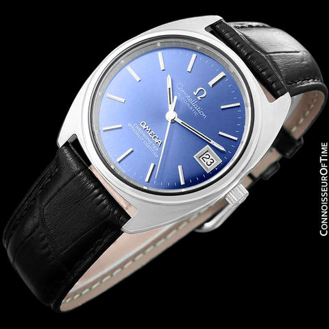 "1973 Omega Constellation ""C"" Chronometer Vintage Mens Calendar Date Watch - Stainless Steel"