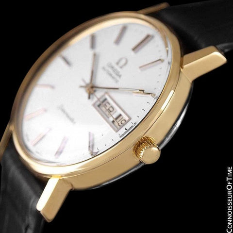 1979 Omega Seamaster Mens Watch, Automatic, Quick-Set Day & Date - 18K Gold Plated & Stainless Steel