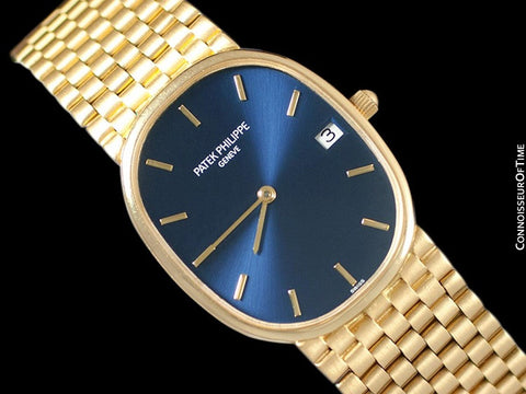 1980's Patek Philippe Ellipse Mens Bracelet Watch, Ref. 3788 - 18K Gold