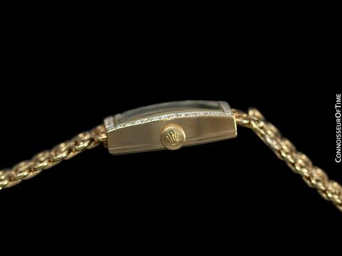 1990's Rolex Ladies Dress Bracelet Watch - 14K Gold & Diamonds