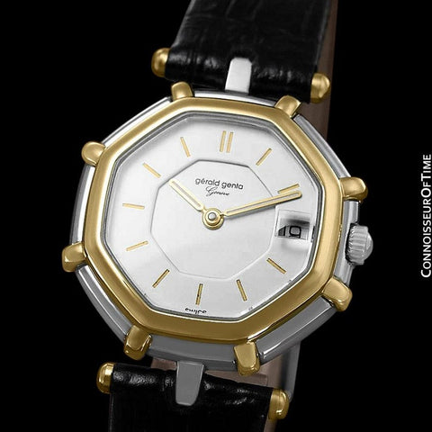 Gerald Genta Success Ladies Watch (Designer of Audemars Piguet Royal Oak) - Stainless Steel & 18K Gold