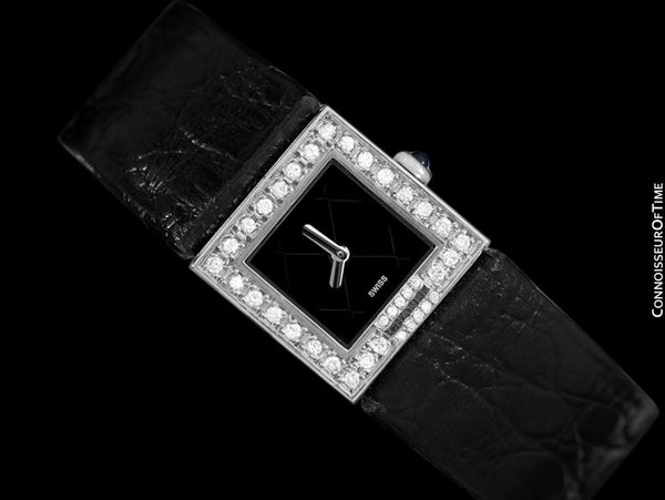 Chanel Matelasse Ladies Square Watch - Stainless Steel & Diamonds