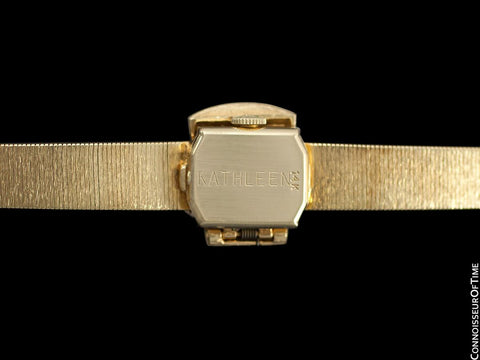 1967 Omega Vintage Ladies Covered Cocktail Watch - 14K Gold & Diamonds