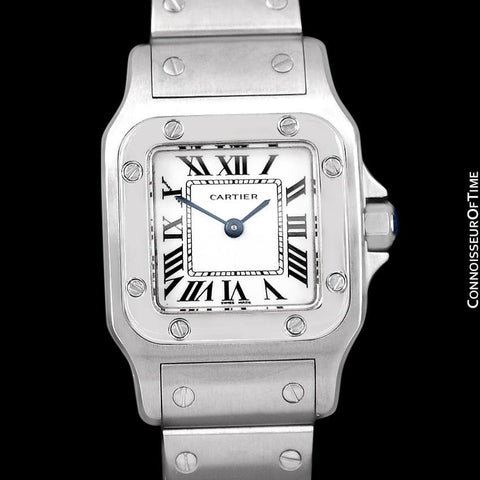 Cartier Santos Galbee Ladies Quartz Bracelet Watch, Stainless Steel - W20056D6