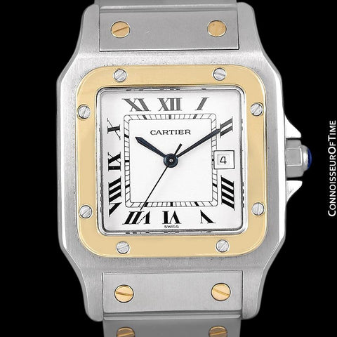 Cartier Mens Santos 2-Tone Automatic Watch - Stainless Steel and 18K Gold