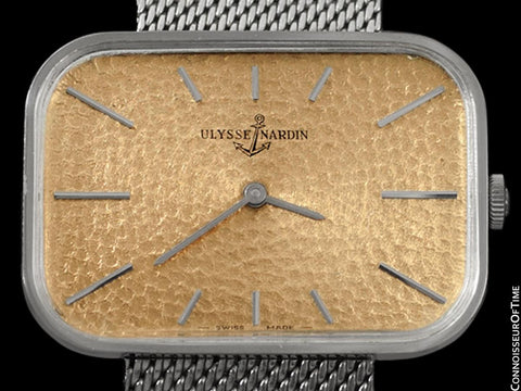 1960's Ulysse Nardin Vintage Mens Large TV Style Dress Watch - Stainless Steel