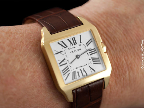 Cartier Santos Dumont Midsize Mens / Ladies Watch - 18K Gold - W2009351