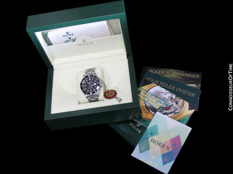 Rolex Submariner Black Sub with Date, Stainless Steel, 16610T - Boxes & Papers