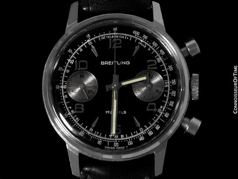 1972 Breitling Vintage Panda Dial Pilot's Chronograph - Stainless Steel